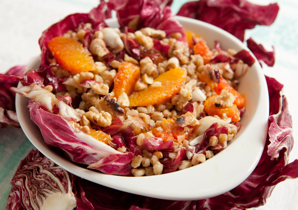 Farro Salad with Radicchio, Orange and Fennel