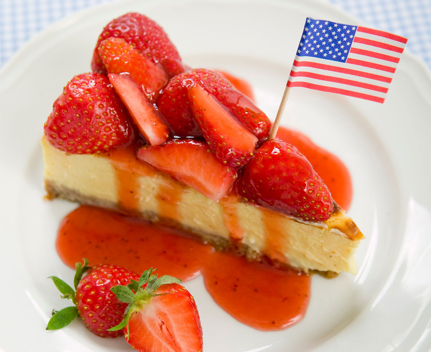 Cheesecake with Stawberries
