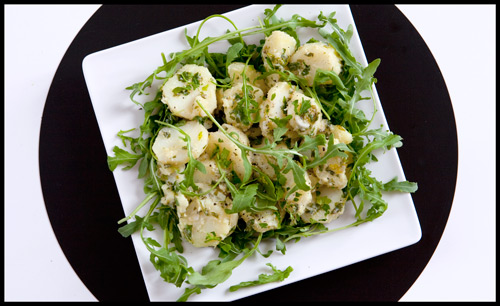 Arugula & Potato Salad with Mustard Vinaigrette