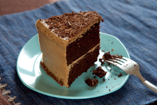 Chocolate Birthday Cake with Espresso Frosting