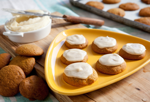 Pumpkin Spice Cookies with Brown Butter Icing