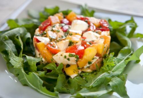 Tomato, Peach and Mozzarella Tartare