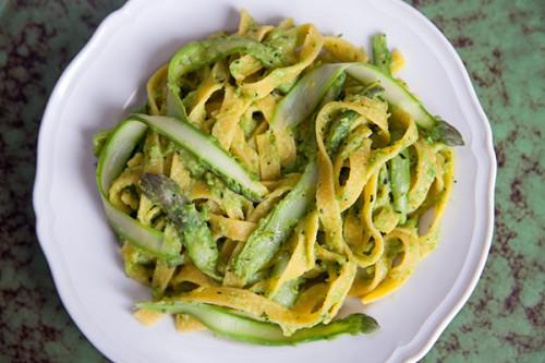 Asparagus and Mint Pesto