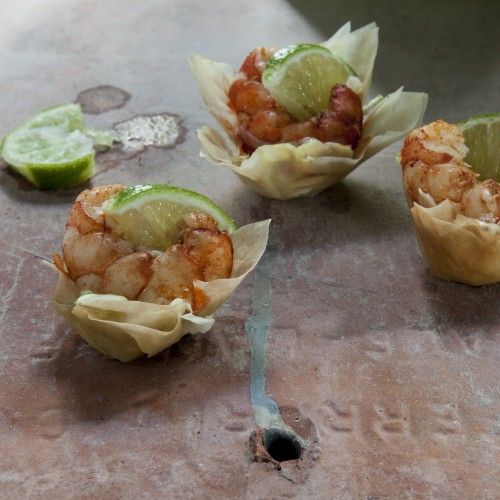 Chili-Lime Shrimp Nests