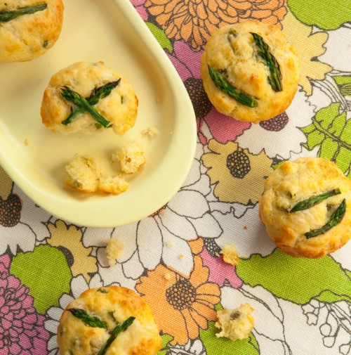 Savory Asparagus Muffins