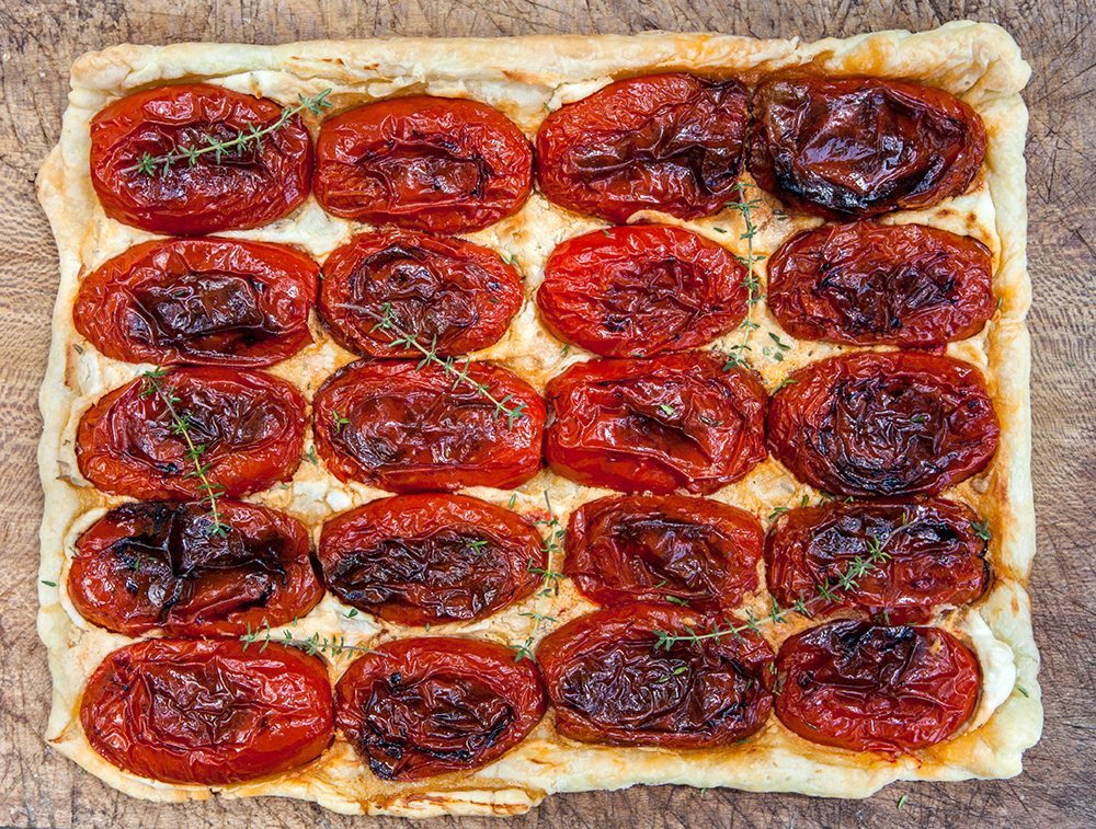 Roasted Tomato and Goat Cheese Tart