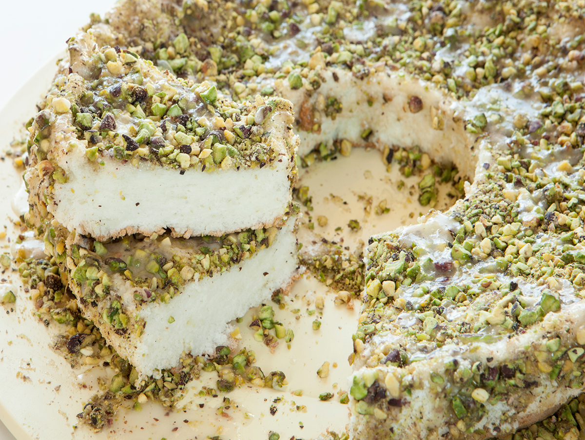 Pistachio Angel Food Cake