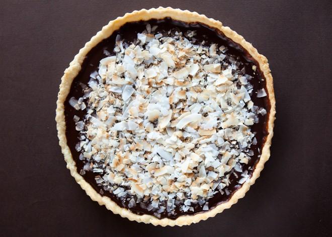 Crostata al cioccolato e cocco