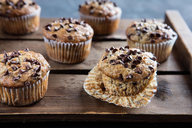 Ricetta Muffin Alla Banana.Muffin Alla Banana E Cioccolato Un Americana In Cucina
